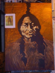 """Native"", 100x70cm, oil on canvas, by Rod Coyne."