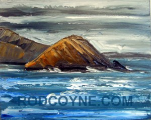 """Hogshead"" oil on canvas, 50x40cm."