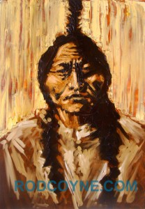 """Native: Big Chief O'Brien"" 70x100cm, oil on canvas."
