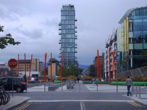 Like all of Dublin the old is alongside the new.