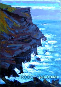"""Cliff Hanger"" 70x100cm, oil on canvas."