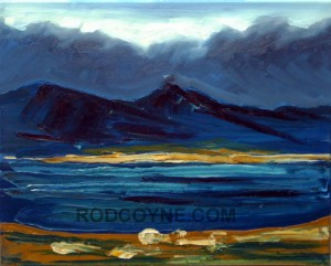 """Coomacarrea, Kerry""  40x50cm, oil on canvas, 2010."