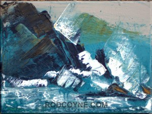 """""""Force 10"""" 18x24cm, oil on canvas, 2010."""