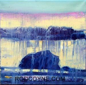 """""""Raining Bull"""" 40x40cm, oil on canvas, 2010."""