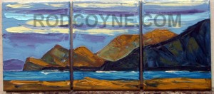"""Three Sisters"" triptych: 3x 18x24cm, oil on canvas, 2010."