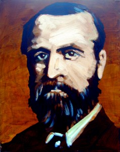 """C.S. Parnell (uncrowned King of Ireland)"" 2010, oil on canvas,     40x50cm, at the Tinahely Art Centre from February 13th 2011."