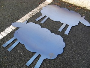 Two basic sheep templates…the journey begins.