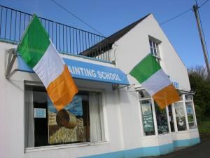 Raising the flag for St. Patrick's Day.